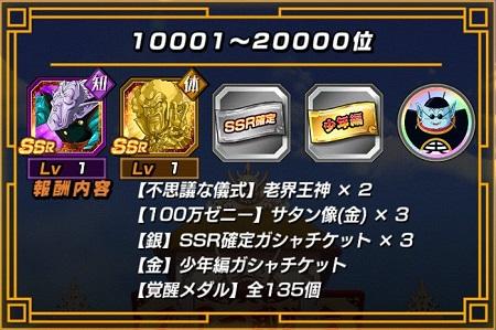ランキング報酬10001~20000