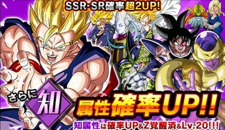 新レアガシャ『Z覚醒済み知属性ガシャ』が開催中!URに覚醒した超強力キャラクターを手に入れよう!