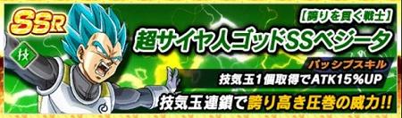 【誇りを貫く戦士】超サイヤ人ゴッドSSベジータ